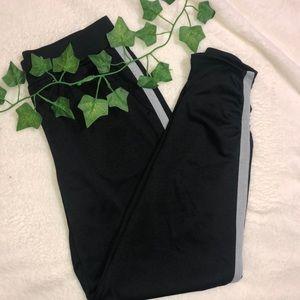 Cropped Black Joggers / Sweatpants